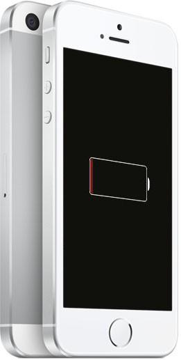 У iPhone 5s разряжена батарея