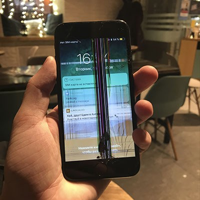 Полосы на дисплее iPhone 7