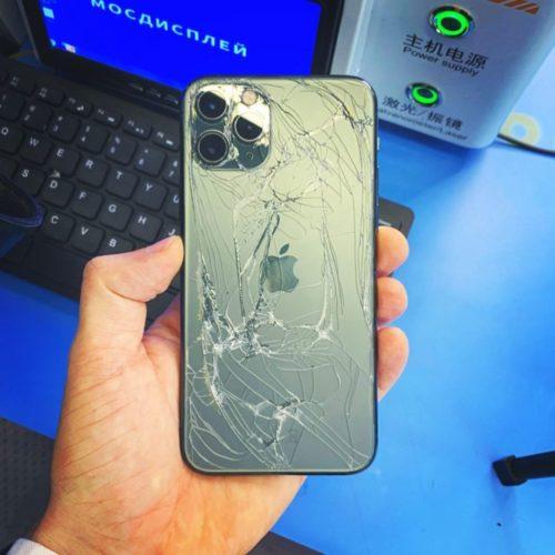 Разбито заднее стекло iPhone Pro