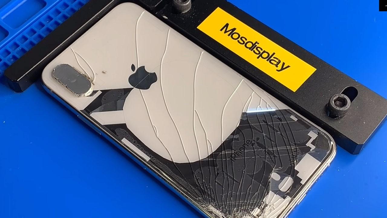 Замена заднего стекла iPhone XS лазером (ФОТО)