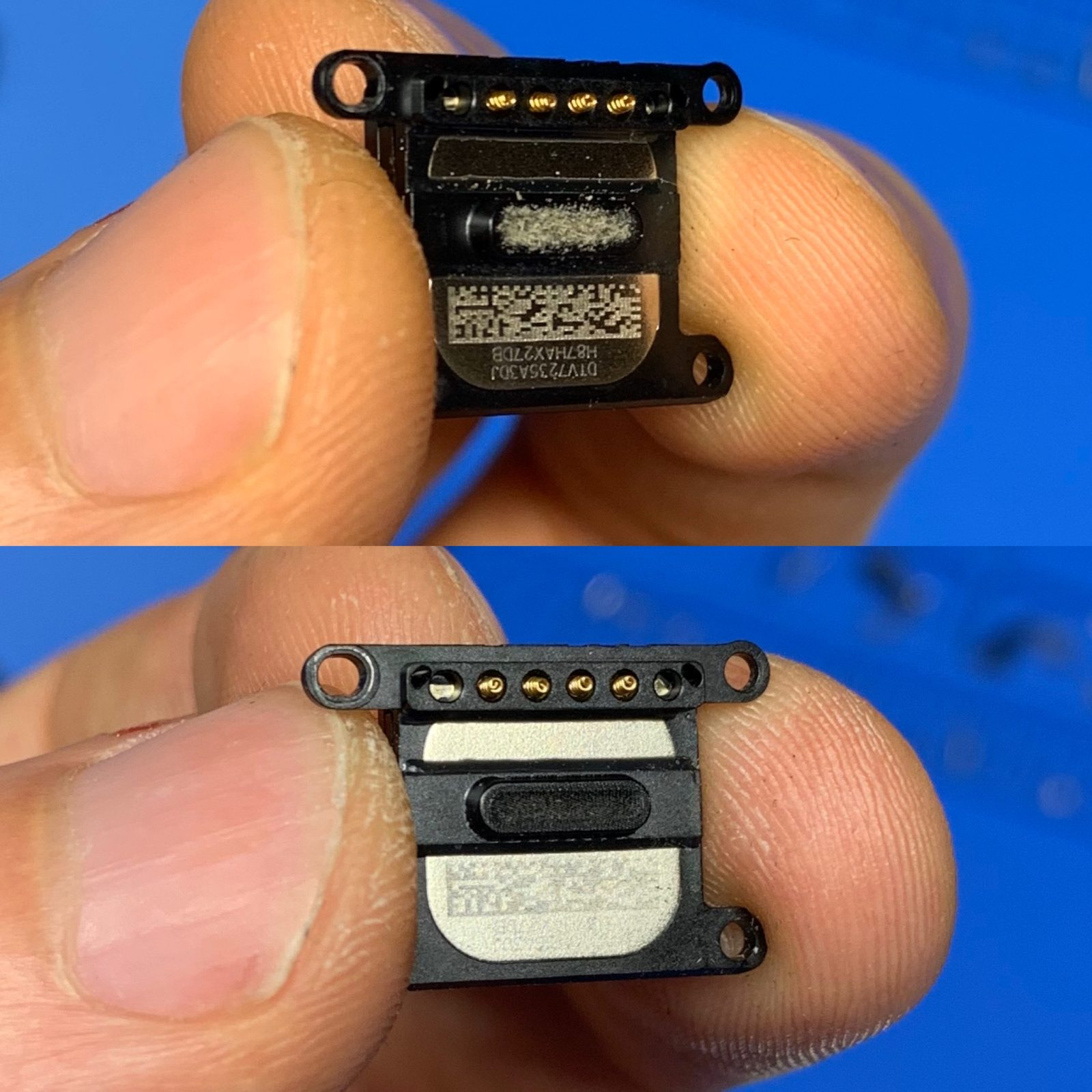 Чистка динамика iPhone