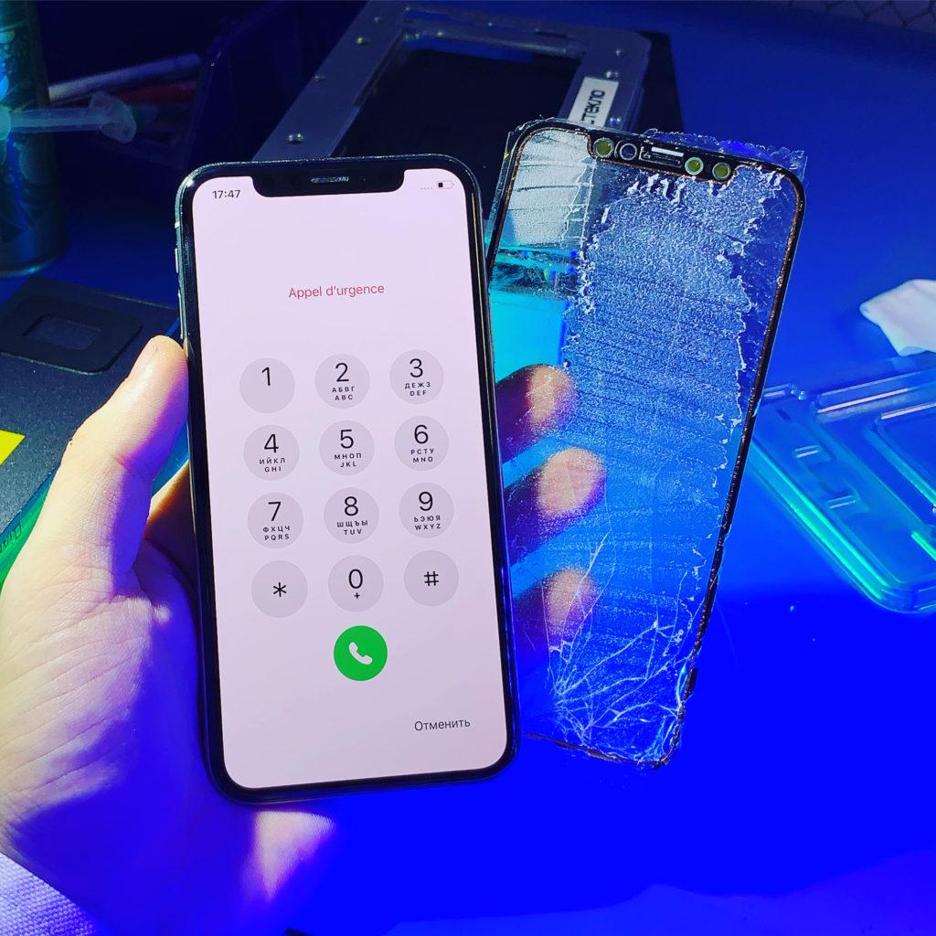 Замена тачскрина iPhone X